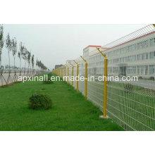 Meilleur prix des ventes d'usine de haute qualité enduit de PVC de clôture de treillis métallique soudé courbé 3D