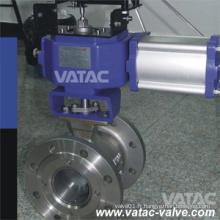 Vatac Flg RF / Rtj Joint Steel V Valve à bille (Segment)
