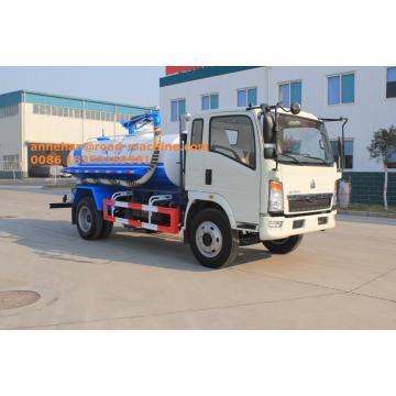 Camión de lodos de bomba de vacío ligera Sinotruk