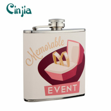 Hot-Selling Stainless Steel Wedding Series Hip Flask for Gift (XF-699)