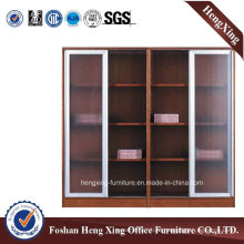 Aluminum Glass Doors Office Bookcase Modern Melamine Office Furniture (HX-4FL003)