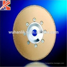230 fast cuutting and long life vacuum brazed diamond Saw Blade with flange for stone