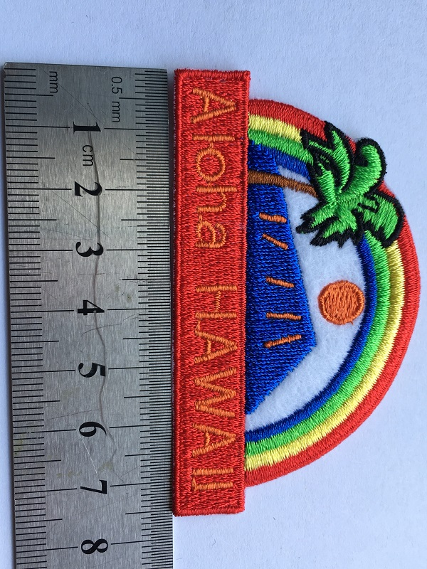 Red Embroidery Patch