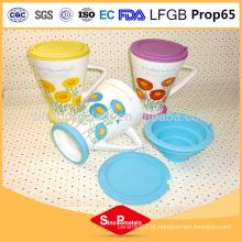 275ml Daisy impressão caneca de chá com filtro de silicone e tampa para BS131121B