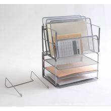 Metal Mesh Steel Desk File Organizer