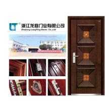 Puerta blindada de madera moderna del diseño de la casa hecha en China