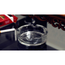 Haonai Clear Ashtray Outdoor, Ashtray,Glass Ashtray for Outdoor and Outside Decorative (Diameter 10.5CM Round)