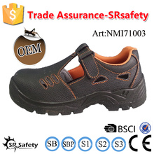 SRSAFETY 2016 industrial safety shoes emboss cow split leather safety shoes black steel safety steel toes shoes