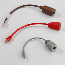 RJ45 plug to RJ45 jack extension cable assembly