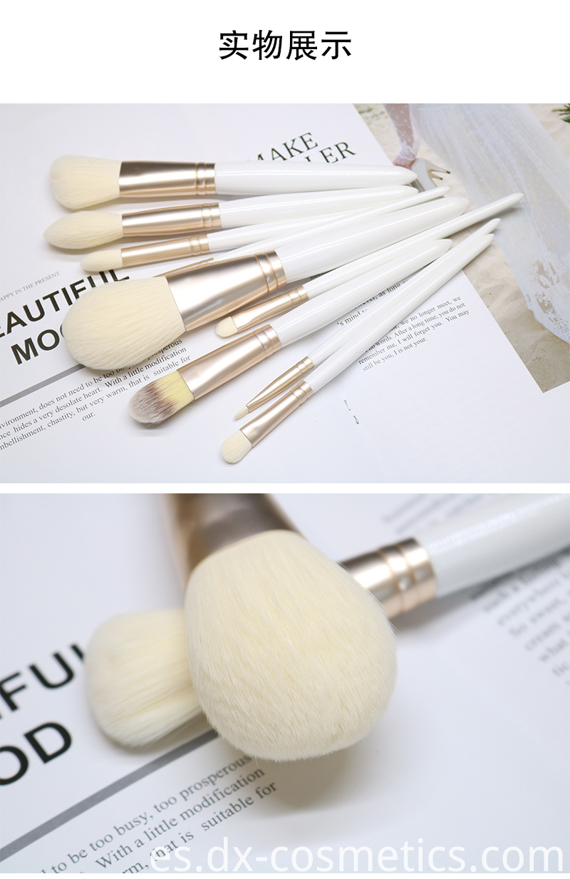 White makeup brush suit