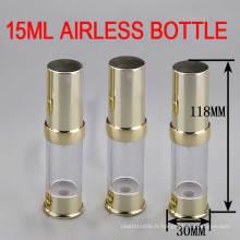 Bon marché! 15 ml Bouteille d'emballage Airless Or / Soins de la peau Bouteille sans air