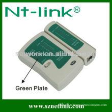 Testeur de câble RJ11 / RJ12 / RJ45 avec plaque verte NT-T036