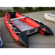 CE venda quente 420cm 8 pessoas de borracha inflável barco a Motor