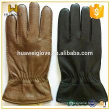 Winter Full Finger Hommes Wearing Deerskin Driving Leather Gloves