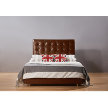 2015 Italia Leather Hotel Queen Bed, Modern Bed (A18)
