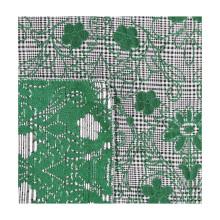High quality brocade jacquard emerald green floral metallic lenzing tencel polyester spandex fabric for garment