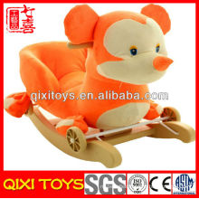 High quality cute gift plush animal rocking chair with music