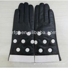 Lacy schmücken handgefertigten Lederhandschuh