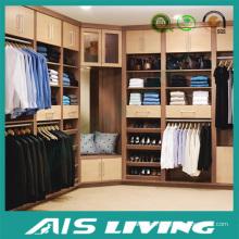 Conveniente y muebles de dormitorio de moda construido en el guardarropa (AIS-W011)