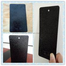 Grain argenté sur revêtement noir en poudre d'orange-peel avec propriété anti-corrosive