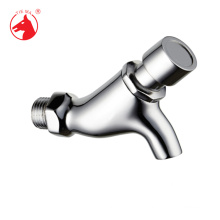 ISO9001 Custom Printing Logo Hot and cold water zinc handle basin push tap