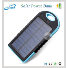 Carregador móvel solar impermeável ao ar livre do banco da energia 5000mAh