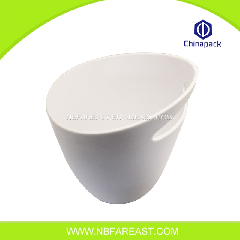 Promotion custom oyster white plastic ice bucket