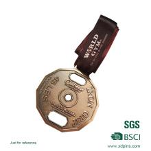 Maßgeschneiderte Metal Challenge Medaille mit Druckband