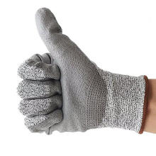 Level 5 HPPE Liner PU Handflächenbeschichtete Schnittschutzhandschuhe