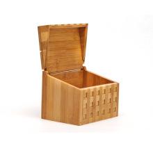 Natural Bamboo Square Storage Box