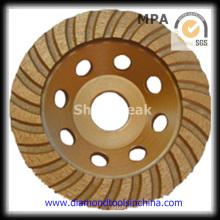 Copa ancha rueda de pulido de piedra y hormigón