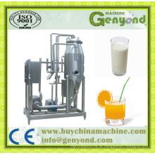 Degassador de vácuo automático para leite e suco