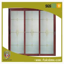 Extrusion profile aluminum glass sliding door for bathroom