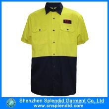 Venda Por Atacado China Fábrica Vestuário Reflexivo Homens Segurança Alta Vis Camisa