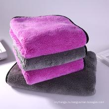 1000GSM супер мягкие толстые плюшевые двойной боковой шов коралловые флис полотенце