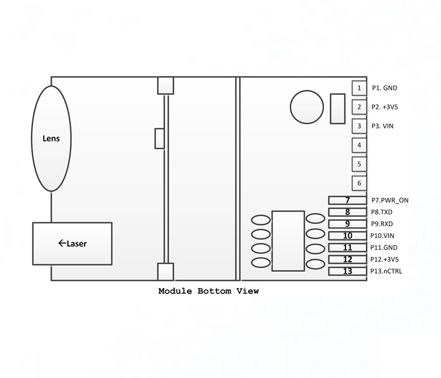 Diagram Laser Distance Module TTL