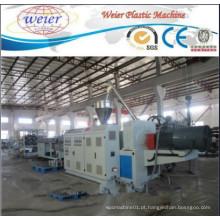 Linha de produção de máquina de tubo duplo PVC Linha de máquina de extrusão de tubo de drenagem de água PVC Linha de máquina de tubo de PVC