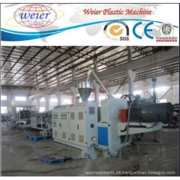 Línea de producción de máquinas de tubos dobles de PVC Línea de máquinas de extrusión de tubos de drenaje de agua de PVC Línea de fabricación de tubos de PVC