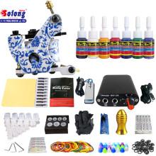 Solong TK105-63 Beginner Tattoo Kit with Tattoo Gun Power Supply Tattoo Kits With Needles