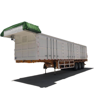 Tri Axle 40 toneladas de pared lateral de cortina semi