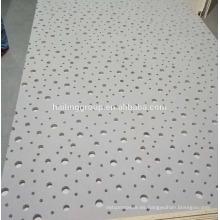 Panel de yeso acústico perforado para placas de techo