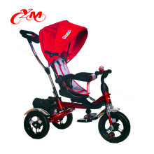 2017 ride on toy tricycle with push bar/4 in 1 baby push tricycle for 3 year old baby/3 wheels tricycle stroller bike