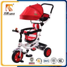 Triciclo de triciclo de plástico para crianças