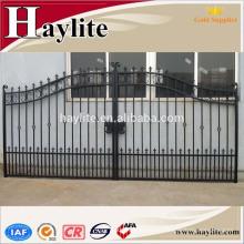 puerta deslizante de hierro forjado hierro puerta haylite para la venta