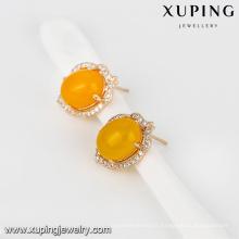 93021-Xuping bijoux Fashion nouvelle boucle d'oreille avec plaqué or 18 carats