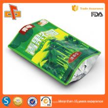 Alta qualidade chinês grau alimentar reutilizável stand up reutilizáveis ziplock saco