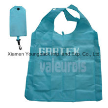 Blue Promotional Waterproof 190t Nylon Fabric Foldable Gift Bag