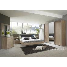 Ensemble de chambre en bois de conception moderne (HF-EY090423)