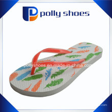 Sandalias de mujer Bermuda Thong Flip Flop Naranja Blanco