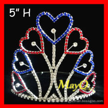 Patriotic Heart pageant tiara crown